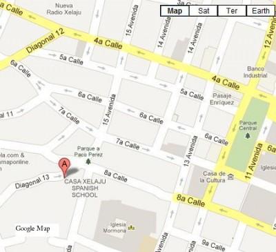 Casa Xelaju in Google Maps