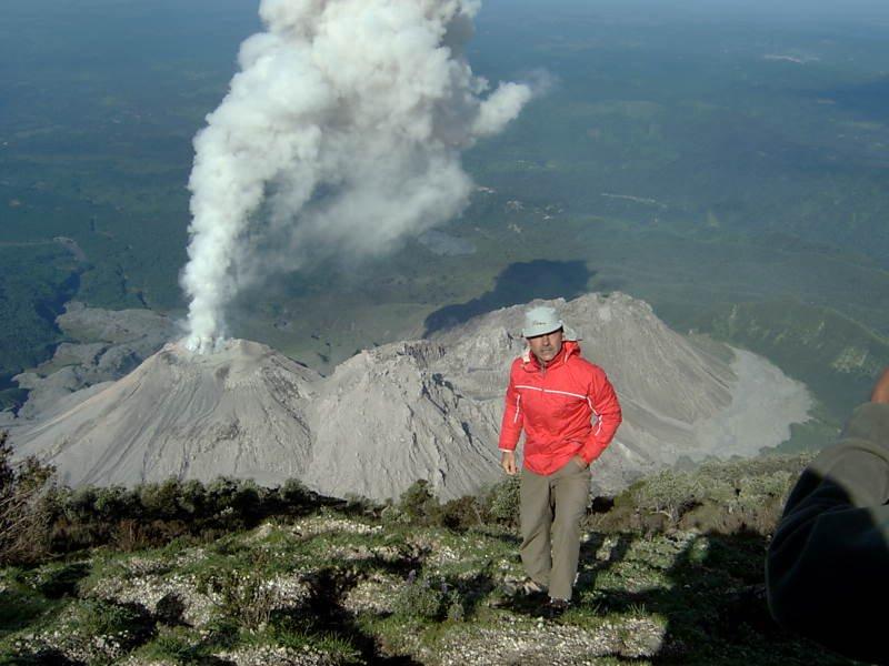 Volcan Santiaguito, from Santa Maria