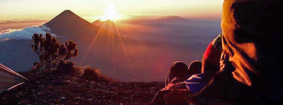 Sunset, from Santa Maria volcano Peak, 12,300 f above sea level.